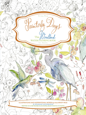 Painterly Days: The Woodland Watercoloring Book for Adults Cover Image