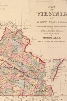 Cover for Virginia and West Virginia Vintage Map Field Journal Notebook, 50 pages/25 sheets, 4x6