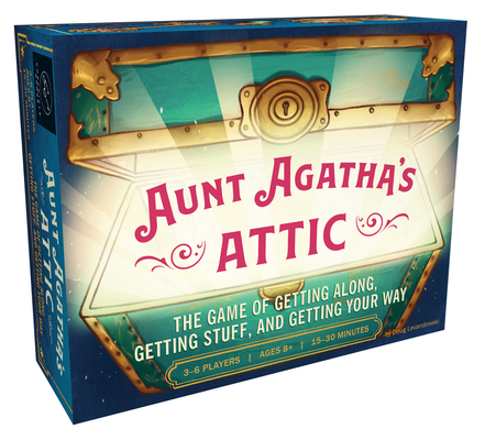 Aunt Agatha's Attic: The Game of Getting Along, Getting Stuff, and Getting Your Way (Fun and Fast Family Card Game, Quick and Easy Negotiation and Set Collection Game) Cover Image