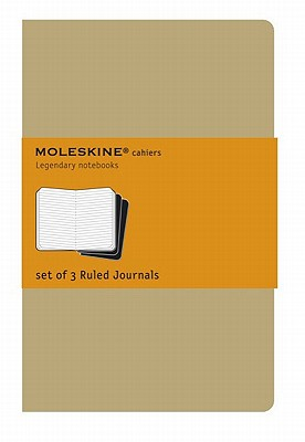 Moleskine Cahier Journal (Set of 3), Pocket, Ruled, Kraft Brown, Soft Cover (3.5 x 5.5): set of 3 Ruled Journals (Cahier Journals) Cover Image