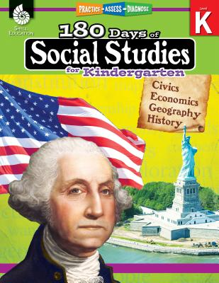 180 Days of Social Studies for Kindergarten: Practice, Assess, Diagnose (180 Days of Practice) Cover Image