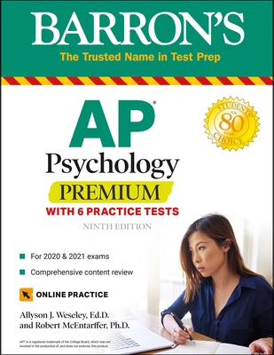 AP Psychology Premium: With 6 Practice Tests (Barron's Test Prep) Cover Image