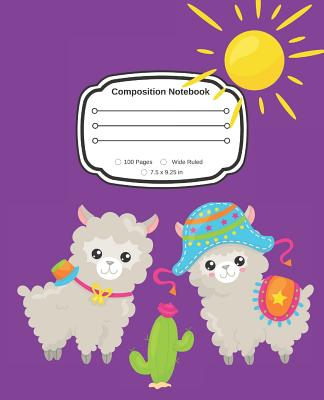 Yes, I Love Alpaca: Cute Composition Notebook Wide Ruled Cover Image