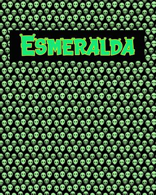 120 Page Handwriting Practice Book with Green Alien Cover Esmeralda: Primary Grades Handwriting Book Cover Image