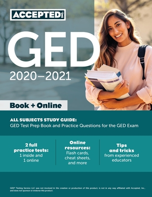 GED Study Guide 2020-2021 All Subjects: GED Test Prep and Practice Test Questions Book Cover Image
