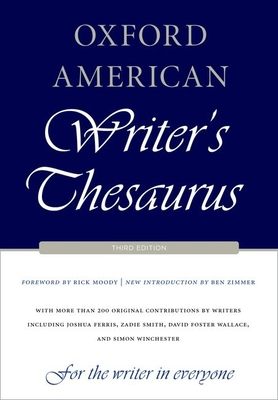 Oxford American Writer's Thesaurus Cover Image