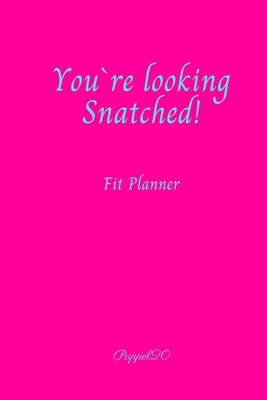 Fit Planner Cover Hollywood Cerise color 200 pages 6x9 Inches Cover Image