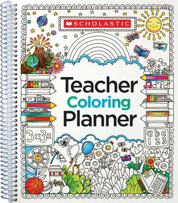 Teacher Coloring Planner Cover Image