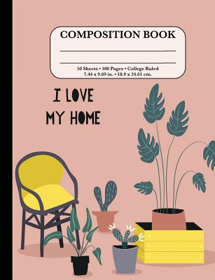 Composition Notebook: College Ruled: Botanical Plants - Cute Composition Book for School Cover Image