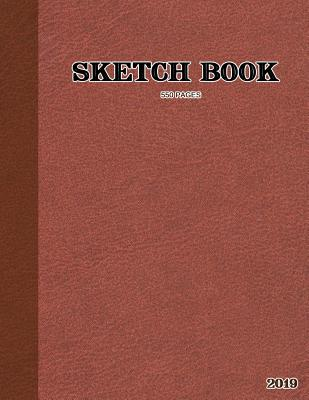 Sketch Book: Leather Pattern Sketch Book for Sketching, Drawing, Creative Doodling or as a Large Notebook Cover Image