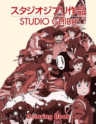 Ghibli Studio Coloring Book Cover Image