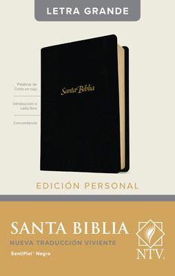 Santa Biblia Ntv, Edición Personal, Letra Grande (Letra Roja, Sentipiel, Negro, Índice) Cover Image