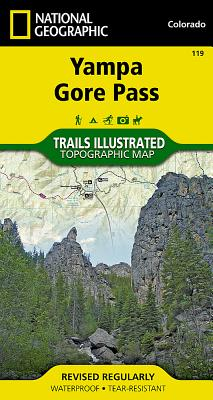 Yampa, Gore Pass (National Geographic Trails Illustrated Map #119) Cover Image