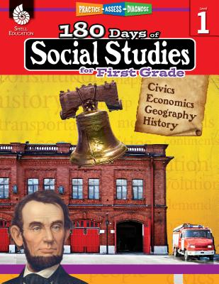 180 Days of Social Studies for First Grade: Practice, Assess, Diagnose (180 Days of Practice) Cover Image