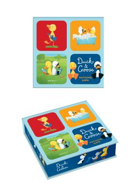 Duck & Goose Matching Game: A Memory Game with 20 Matching Pairs for Children Cover Image