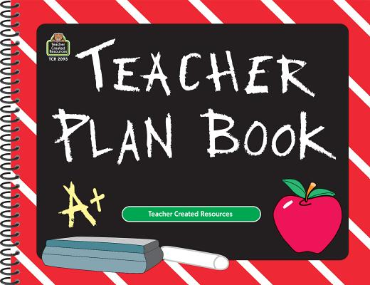 Chalkboard Teacher Plan Book Cover Image