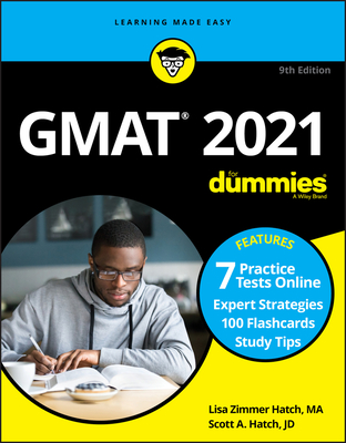 GMAT for Dummies 2021: Book + 7 Practice Tests Online + Flashcards Cover Image