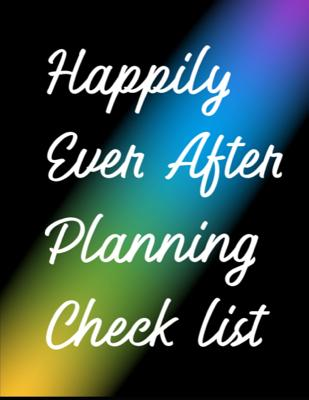 Happily Ever After Planning Check List: Man of Honor Things To Do: Prompted Fill In Organizer for Man of Honor for Notes, Reminders, Lists, Things to Cover Image