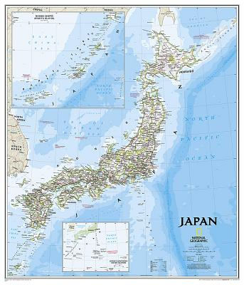 National Geographic: Japan Classic Wall Map (25 X 29 Inches) (National Geographic Reference Map) Cover Image