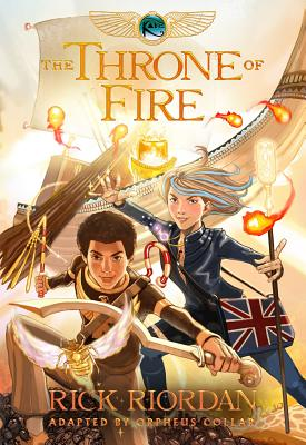 Kane Chronicles, The, Book Two The Throne of Fire: The Graphic Novel (The Kane Chronicles, Book Two) Cover Image