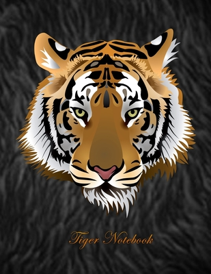 Tiger Notebook: Journal/ Notebook with Blank Pages - 100 Sheet, Cover Style, Tiger Notebook, Size 8.5 x 11, Unrolled Notebook / Glossy Cover Image