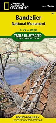 Bandelier National Monument (National Geographic Trails Illustrated Map #209) Cover Image