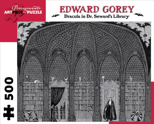 Dracula in Dr. Seward's Library 500-Piece Jigsaw Puzzle (Pomegranate Artpiece Puzzle) Cover Image