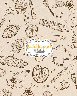 Bullet Journal Notebook: Cute Sweets & Food Drawing Cover: Notebook