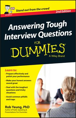 Answering Tough Interview Questions for Dummies  cover image
