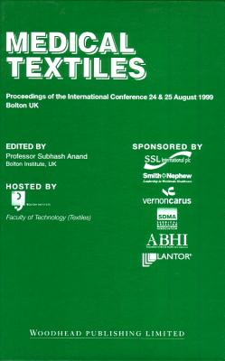 Medical Textiles: Proceedings of the 2nd International Conference, 24th and 25th August 1999, Bolton Institute, UK Cover Image