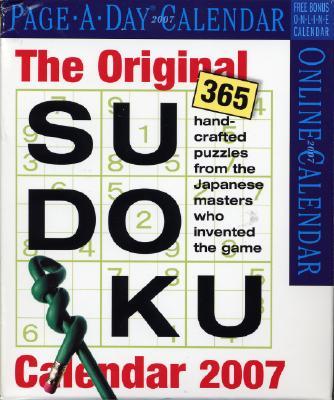 The Original Sudoku Calendar 2007 Cover Image