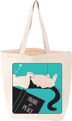 Snore and Peace Cat Tote Cover Image