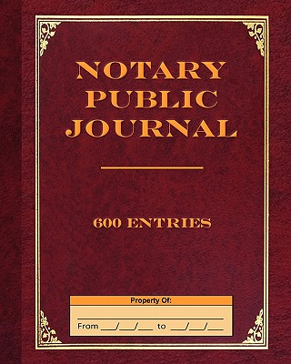 Notary Public Journal 600 Entries Cover Image