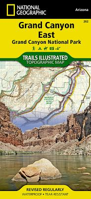 Grand Canyon East [Grand Canyon National Park] (National Geographic Trails Illustrated Map #262) Cover Image