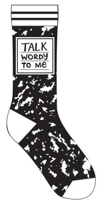 Talk Wordy to Me Socks Cover Image