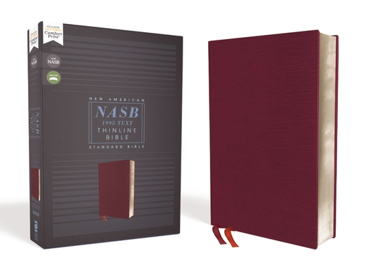 Nasb, Thinline Bible, Bonded Leather, Burgundy, Red Letter Edition, 1995 Text, Comfort Print Cover Image
