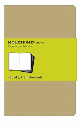 Moleskine Cahier Journal (Set of 3), Pocket, Plain, Kraft Brown, Soft Cover (3.5 x 5.5): set of 3 Plain Journals (Cahier Journals) Cover Image