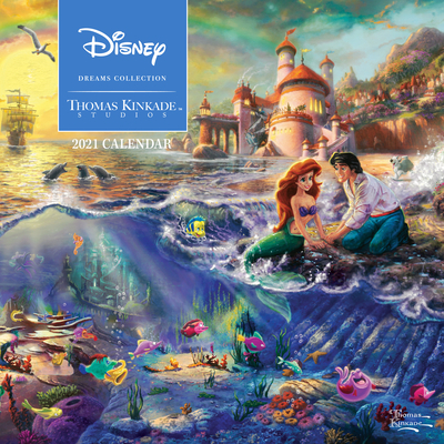 Disney Dreams Collection by Thomas Kinkade Studios: 2021 Wall Calendar Cover Image