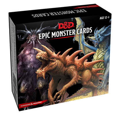 Dungeons & Dragons Spellbook Cards: Epic Monsters (D&D Accessory) Cover Image