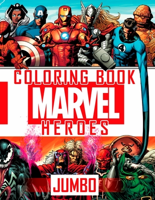 MARVEL JUMBO HEROES Coloring Book: Great 61 Illustrations for MARVEL Fans (2020) Cover Image