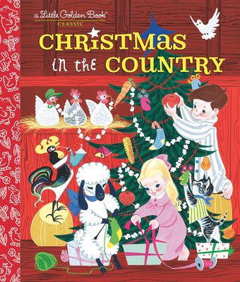 Christmas in the Country (Little Golden Book) Cover Image