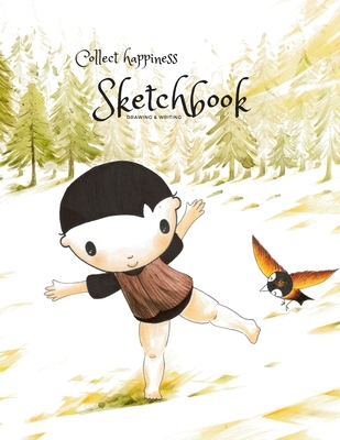 Collect happiness sketchbook(Drawing & Writing)( Volume 14)(8.5*11) (100 pages): Collect happiness and make the world a better place. Cover Image