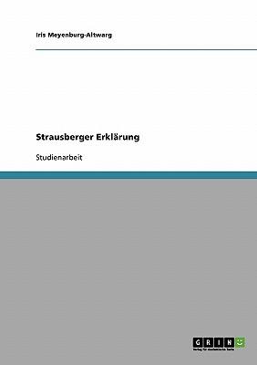 Strausberger Erklärung Cover Image