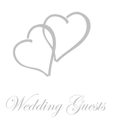 Wedding Guest Book, Bride and Groom, Special Occasion, Comments, Gifts, Well Wish's, Wedding Signing Book with Silver Love Hearts (Hardback) Cover Image