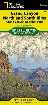 Grand Canyon, North and South Rims [Grand Canyon National Park] (National Geographic Trails Illustrated Map #261) Cover Image