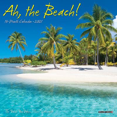 Ah the Beach! 2021 Mini Wall Calendar Cover Image