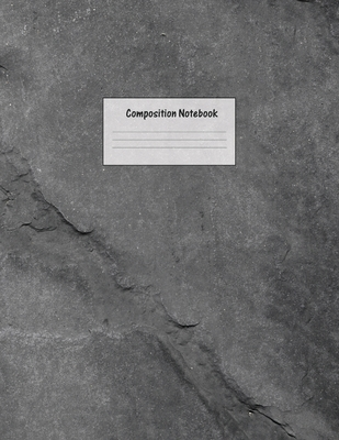 Composition Notebook: Wide Ruled Lined Paper: Large Size 8.5x11 Inches, 110 pages. Notebook Journal: Sparkly Grey Rock Workbook for Preschoo Cover Image
