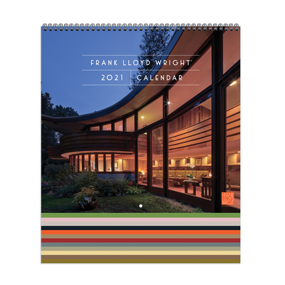Frank Lloyd Wright 2021 Tiered Wall Calendar Cover Image
