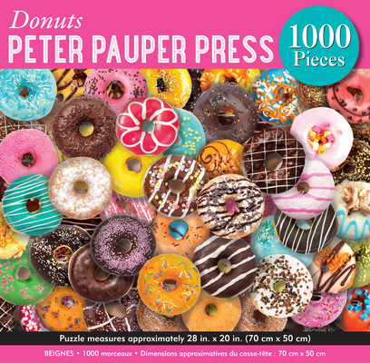 Donuts 1,000 Piece Jigsaw Puzzle Cover Image