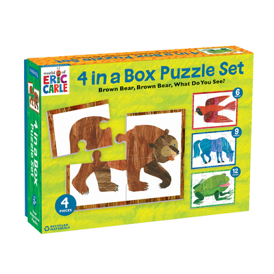 World of Eric Carle, Brown Bear 4 in a Box Puzzle Set Cover Image